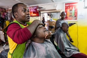 THE BIG RUB, LIVINGSTONE BARBER SHOP, LIVINGSTONE, ZAMBIA