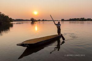 GENTLE FLOW, ISLANDS OF SIANKABA, ZAMBEZI RIVER ABOVE VICTORIA FALLS, ZAMBIA