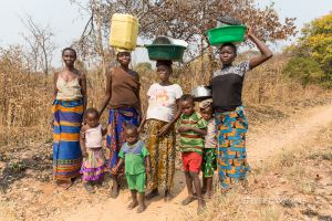 A DAILY TREK, GATHERING WATER, CHITOKOLOKI, ZAMBIA