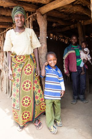 JONAS AND HIS MOTHER AT HOME, POST SURGERY, TANZANIA