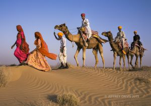 DESERT PROCESSION, RAJASTHAN, INDIA