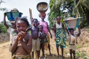 A FAMILY PICNIC, PUJEHUN, SIERRA LEONE